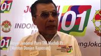 Calon presiden Joko Widodo atau Jokowi, kemarin menerima dukungan dari para purnawirawan TNI/Polri, termasuk Mayor Jenderal (Purn) TNI Muchdi PR. (Liputan6.com/Putu Merta)