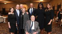 Upacara pemakaman Barbara Bush pada Sabtu 21 April 2018 menjadi momentum reuni para presiden dan ibu negara Amerika Serikat (Paul Morse/Courtesy of Office of George H.W. Bush via AP)