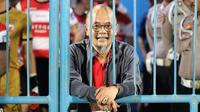 Manajer Madura United sekaligus anggota Komite Eksekutif PSSI 2019-2023, Haruna Soemitro. (Bola.com/Aditya Wany)