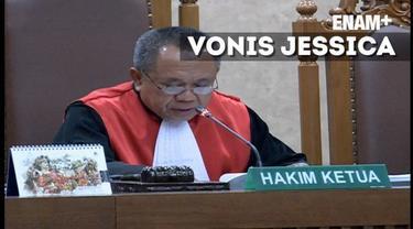 Hakim menghukum Jessica Kumala Wongso 20 tahun penjara dalam kasus pembunuhan Mirna. Vonis ini sama dengan tuntutan jaksa.