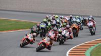 CEO Dorna, Carmelo Ezpeleta, mengonfirmasi Sirkuit Sachsenring bakal tetap menggelar MotoGP Jerman 2019. (AFP/Robert Michael)