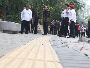 Jokowi Tinjau Fasilitas Disabilitas di GBK
