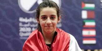 Hend Zaza merupakan atlet tenis meja yang lahir pada 1 Januari 2009 di Hama, Suriah. (Instagram/mohd.shammaa).
