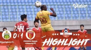Laga lanjutan Shopee Liga 1, Bhayangkara VS Badak Lampung berakhir imbang dengan skor 0-1 #shopeeliga1