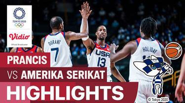 Berita video highlights kemenangan tim Amerika Serikat atas Prancis pada final basket putra Olimpiade Tokyo 2020, Sabtu (7/8/2021) pagi hari WIB.