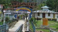 Kampung Lopintol, kampung muslim tertua di Teluk Mayalibit, Pulau Waigeo, Kabupaten Raja Ampat, Provinsi Papua Barat. (Liputan6.com/Hari Suroto/Katharina Janur)