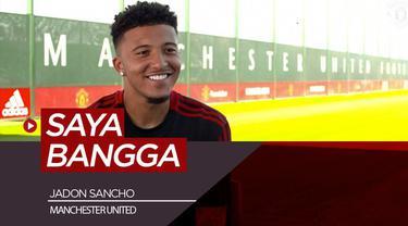 Berita video wawancara singkat bersama pemain baru Manchester United, Jadon Sancho