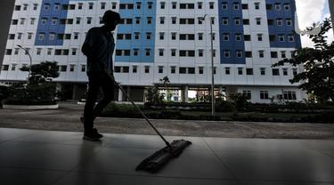 FOTO: Rusun Nagrak Cilincing Bersiap untuk Isolasi Pasien COVID-19