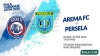 Piala Gubernur Jatim - Arema FC Vs Persela Lamongan (Bola.com/Adreanus Titus)