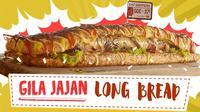Lapar? Yuk intip jajanan seru sandwich setengah meter yang satu ini. (Foto: Kokiku Tv)