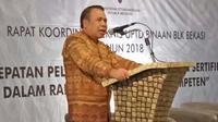 Dirjen Bambang Satrio mengatakan target tersebut bisa terwujud jika BBPLK Bekasi mambangun sinergi yang baik dengan Unit Pelaksana Teknis Daerah (UPTD) Balai Latihan Kerja (BLK).