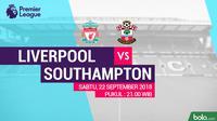 Premier League 2018-2019 Liverpool Vs Southampton (Bola.com/Adreanus Titus)