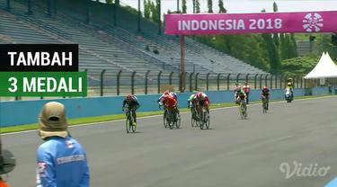 Indonesia menambah dua medali perunggu dan satu perak dari cabang balap sepeda Asian Para Games 2018 di Sirkuit Sentul, Selasa (9/10/2018).