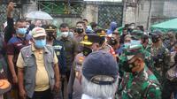 Tinjau Banjir di PGP Bekasi, Menteri PUPR Siapkan Tujuh Paket Penanganan. Foto: Liputan6.com/Bam Sinulingga