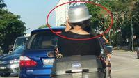 Gunakan panci untuk helm, wanita ini langsung terkenal (worldofbuzz)