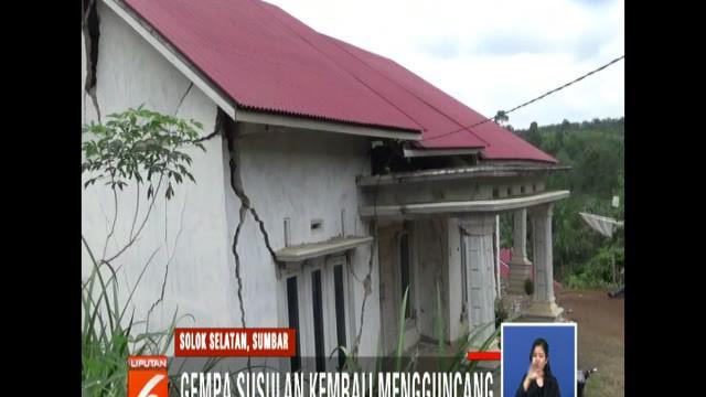 Meski gempa susulan tidak memperparah kerusakan bangunan, namun menyebabkan trauma bagi warga tanda gempa belum berakhir.