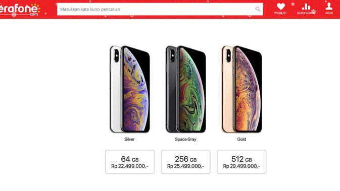 Harga iPhone XS Max di Indonesia (Foto: Erafone.com)