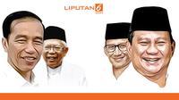 Banner Visi Misi Capres Jokowi Vs Prabowo. (Liputan6.com/Triyasni)