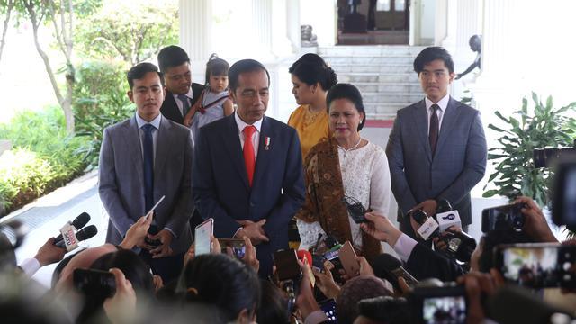 Didampingi Keluarga, Jokowi Menuju Tempat Pelantikan