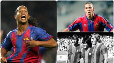 Lionel Messi menjadi salah satu pemain terbaik dunia yang dimiliki Barcelona. Selain Messi, di Camp Nou sendiri tercatat bahwa Barcelona pernah memiliki pemain terbaik di dunia lainnya. Berikut 7 pemain terbaik dunia yang pernah dimiliki Barcelona (Kolase foto AFP)