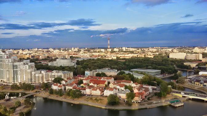 Panorama Minsk, Belarus, tuan rumah 2nd European Games (wikimedia creative commons)
