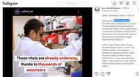 Mahasiswa Universitas Oxford dari Indonesia, Indra Rudiansyah, ikut terlibat dalam pembuatan vaksin Corona (COVID-19). Dok: @ppi_unitedkingdom