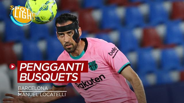 Berita video spotlight tentang pemain yang cocok untuk menggantikan posisi Sergio Busquets di Barcelona.