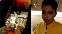 Pelaku yang diketahui bernama Devshi Kulshreshtha (25) adalah seorang warga India dan bekerja sebagai pramugari di maskapai Jet Airways (Capture)
