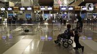 Aktivitas keberangkatan di Terminal 3 Ultimate Bandara Soekarno Hatta, Tangerang, Rabu (11/3/2020). Dirut PT Angkasa Pura II M Awaluddin mengatakan, penyebaran virus corona (COVID-19) pada Februari 2020 mengakibatkan 735 penerbangan tujuan internasional dibatalkan. (Liputan6.com/Johan Tallo)