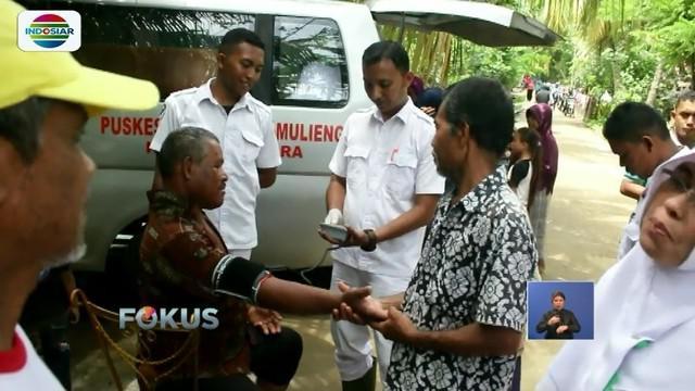 Para korban banjir di Kabupaten Aceh Utara mulai terserang penyakit pasca banjir, seperti gatal-gatal, demam, dan diare.