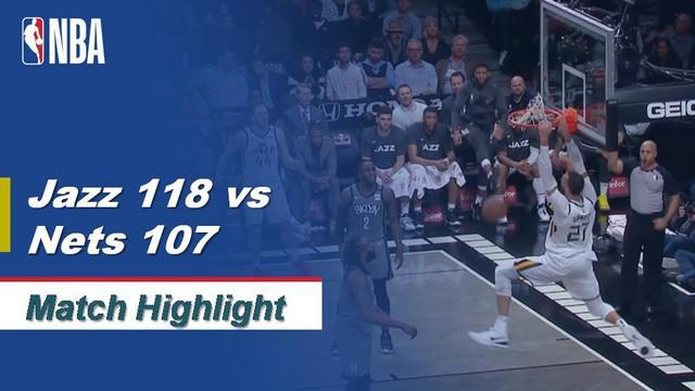 Berita Video Highlights NBA 2019-2020, Utah Jazz Vs Brooklyn Nets 118-107