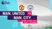 Premier League - Manchester United Vs Manchester City (Bola.com/Adreanus Titus)