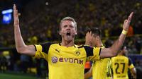Andre Schurrle bergabung dengan Borussia Dortmund setelah ditransfer dari Wolfsburg senilai 25 juta pound. Namun, Schurrle baru tampil 180 menit dalam 2 partai. (AFP/Patrik Stollarz).