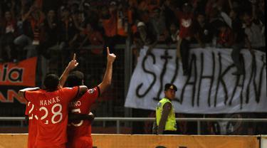 Persija Jakarta sukses membekuk Barito Putera 3-1 di laga lanjutan Indonesia Super League di Stadion GBK, (5/9/2014). (Liputan6.com/Helmi Fithriansyah)