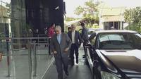 Rombongan pejabat Iran tiba di Gedung KPK, Jakarta Selatan, Rabu (7/3/2018). (Liputan6.com/Lizsa Egeham)