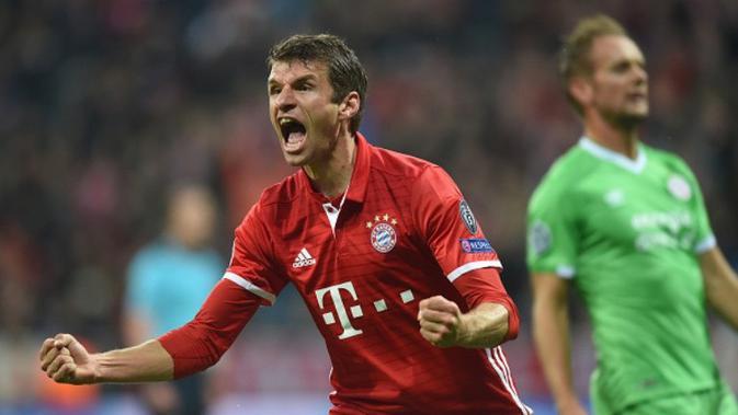 Striker Bayern Munchen asal Jerman, Thomas Muller. (AFP/Christof Stache)