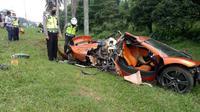 McLaren MP4 12C Kecelakaan di Tol Jagorawi (Ist)