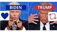 Ilustrasi Twitter Trump VS Biden (@DrBilalOfficial/Twitter).