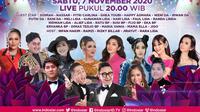 Semarak Indosiar Yogyakarta live Sabtu (7/11/2020) mulai pukul 20.00 WIB