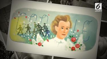 Edith Cavell, wanita yang lahir pada 4 Desember 1865, di Norfolk, Inggris bagian timur. Sosoknya mengisi Google Doodle hari ini. Siapakah dia?
