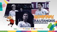 Semifinal Bulutangkis Asian Games 2018. (Bola.com/Dody Iryawan)