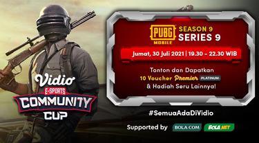 Jadwal dan Live Streaming Vidio Community Cup Season 9 PUBGM Series 9, Jumat 30 Juli 2021