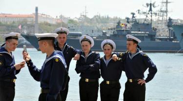 Ilustrasi militer Rusia selfie