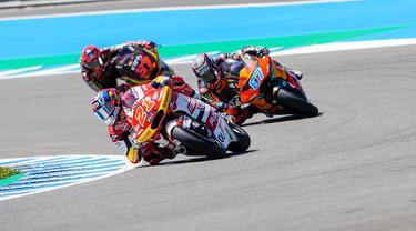 Aksi tim Indonesian Racing di MotoGP Jerez 2021