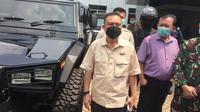 Wakil Ketua DPR RI Sufmi Dasco di RSDPAD Jakarta, Rabu (14/4/2021). (Liputan6.com/ Muhammad Radityo Priyasmoro)