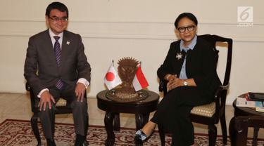 Menlu Retno Terima Kunjungan Menlu Jepang