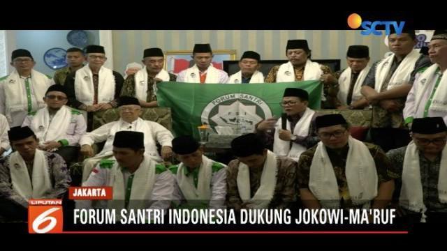 Jokowi-Ma'ruf mendapat dukungan dari Forum Santri Indonesia.