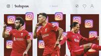 Ilustrasi - Instagram Mohamed Salah, Roberto Firmino, Virgil van Dijk (Bola.com/Adreanus Titus)