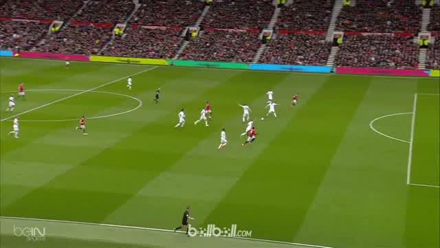 Romelu Lukaku mencetak gol ke-100 di Premier League saat Manchester United hadapi Swansea City. This video is presented by Ballball.