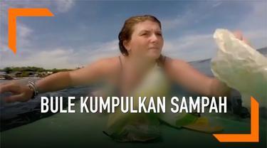 Seorang warga negara Inggris, Rebecca Gilmore mendapat pengalaman yang tidak menyenangkan saat berselancar di Bali. Ia mendapati banyak sampah plastik di tengah laut.